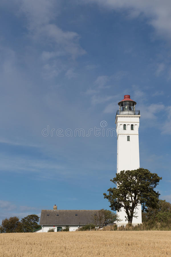 Latarnia morska i dom zdjęcia royalty free