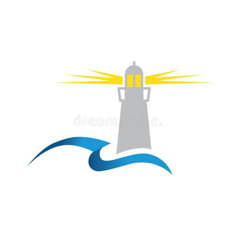 Latarnia morska i ocean royalty ilustracja