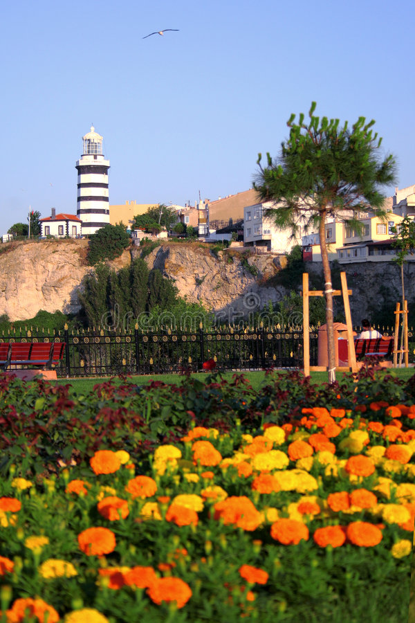 latarnia morska istanbul północnej obraz royalty free