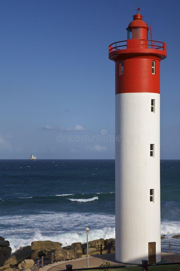 latarnia morska kołysa umhlanga obraz stock