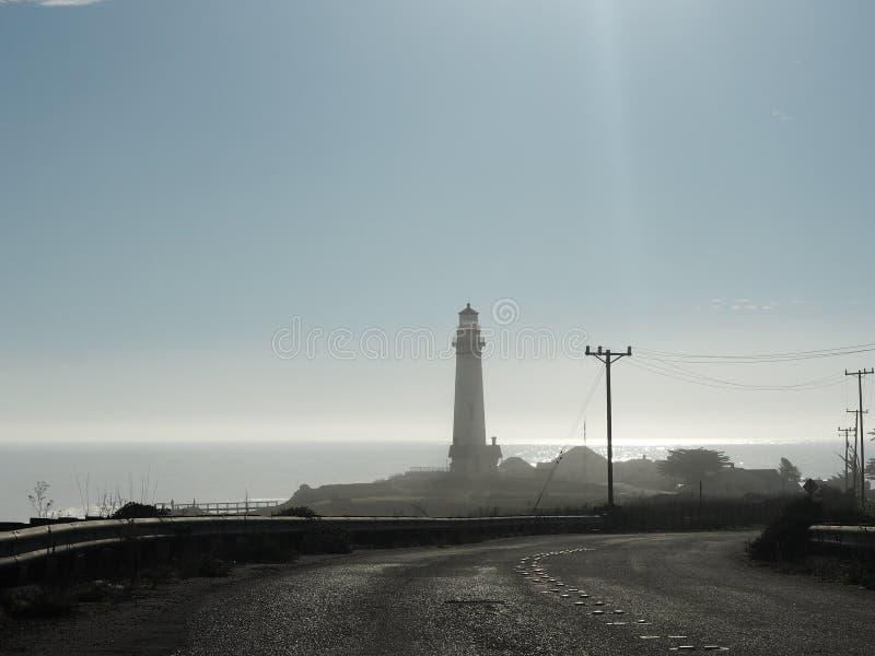 Latarnia morska komes w widok od wybrzeże pacyfiku autostrady zdjęcia stock
