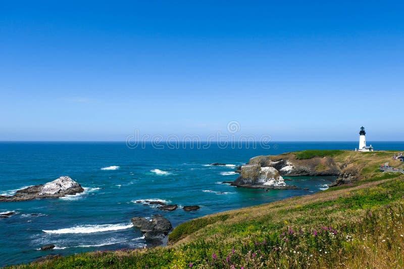 Latarnia morska krajobraz w Oregon, usa obrazy stock