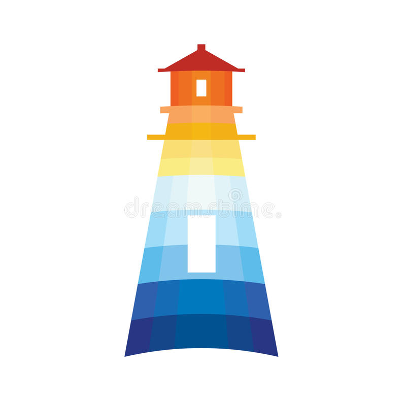 latarnia morska logo ilustracji