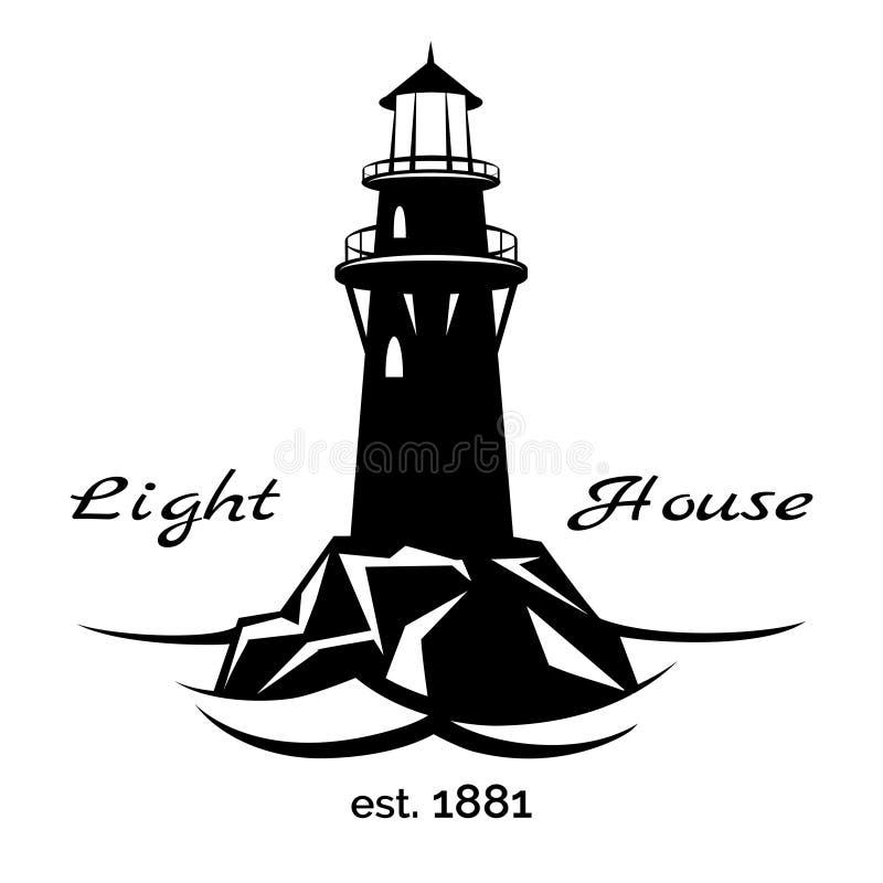 Latarnia morska logo royalty ilustracja