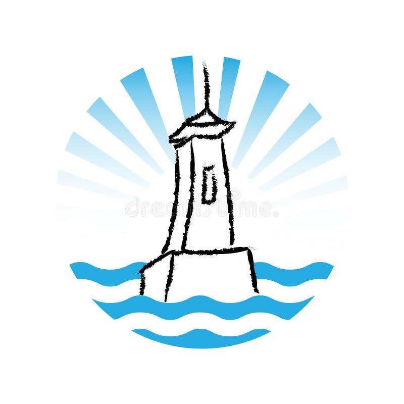 Download Latarnia Morska Logo, Wektor Ilustracja Wektor - Ilustracja złożonej z logo, brzeg: 57659130