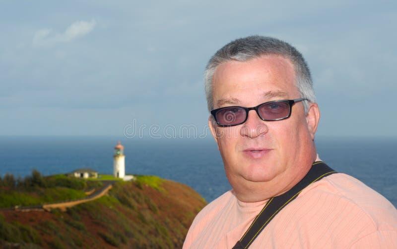 latarnia morska mężczyzna zdjęcie royalty free