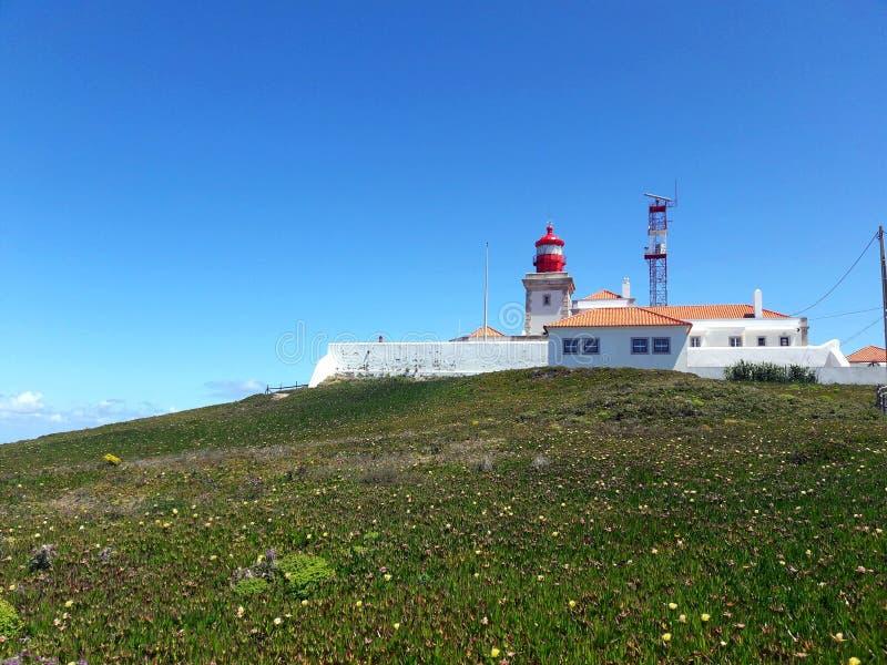 Latarnia morska na Cabo da Roca obraz royalty free