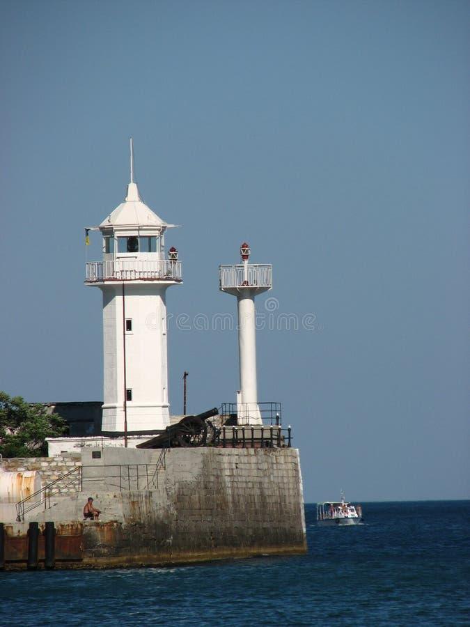 latarnia morska na krymie Jałty zdjęcie royalty free