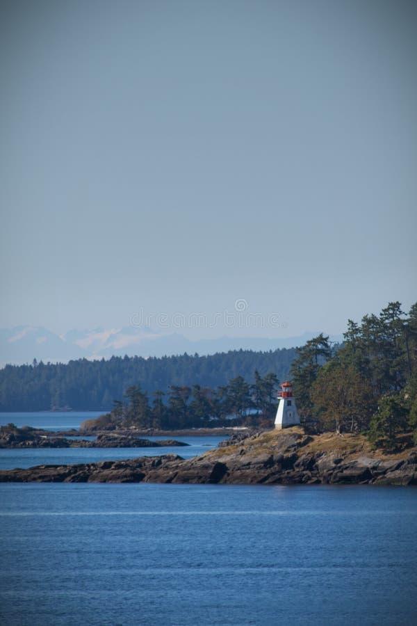 Latarnia morska na seashore, Canada zdjęcie royalty free
