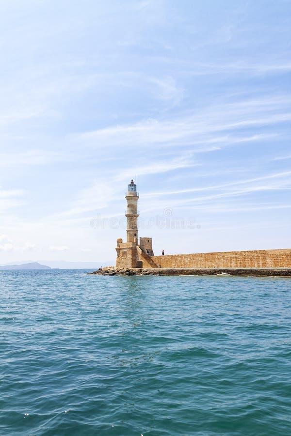 Latarnia morska na wyspie Crete Grecja zdjęcie royalty free