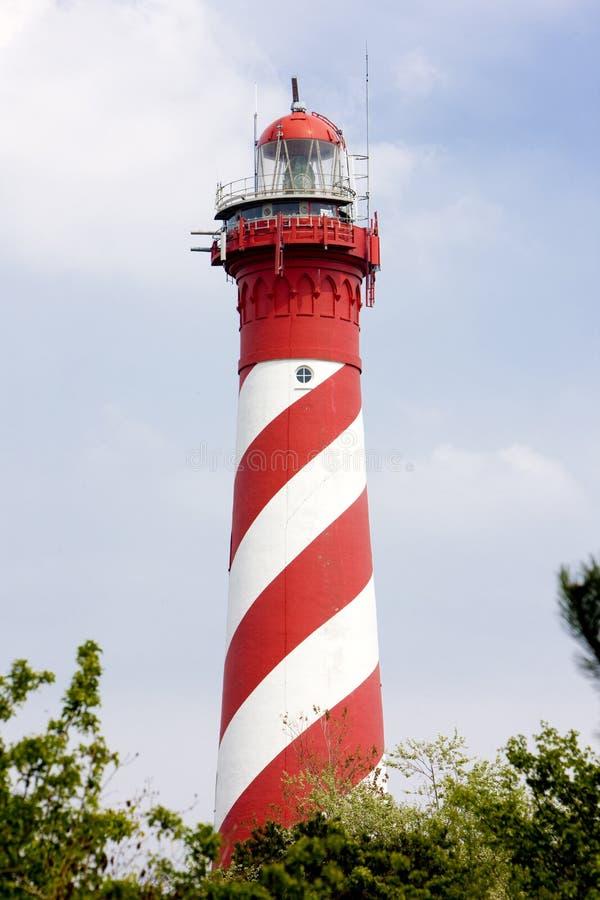 latarnia morska, Nieuw Haamstede, Zeeland, holandie fotografia stock