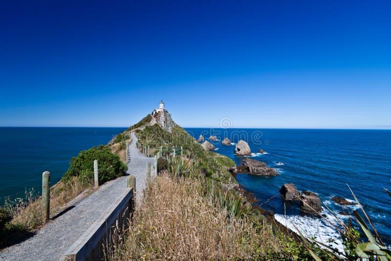 latarnia morska nowa przejście Zealand zdjęcie stock