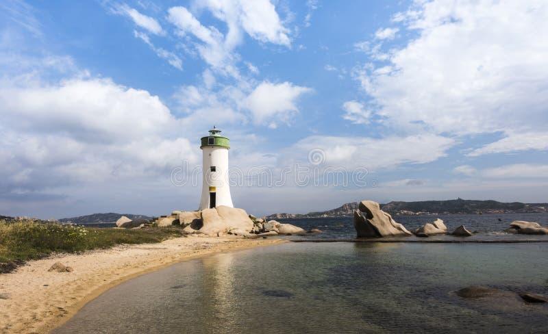 Latarnia morska, Palau, Costa Smeralda, Sardinia, Włochy zdjęcia stock