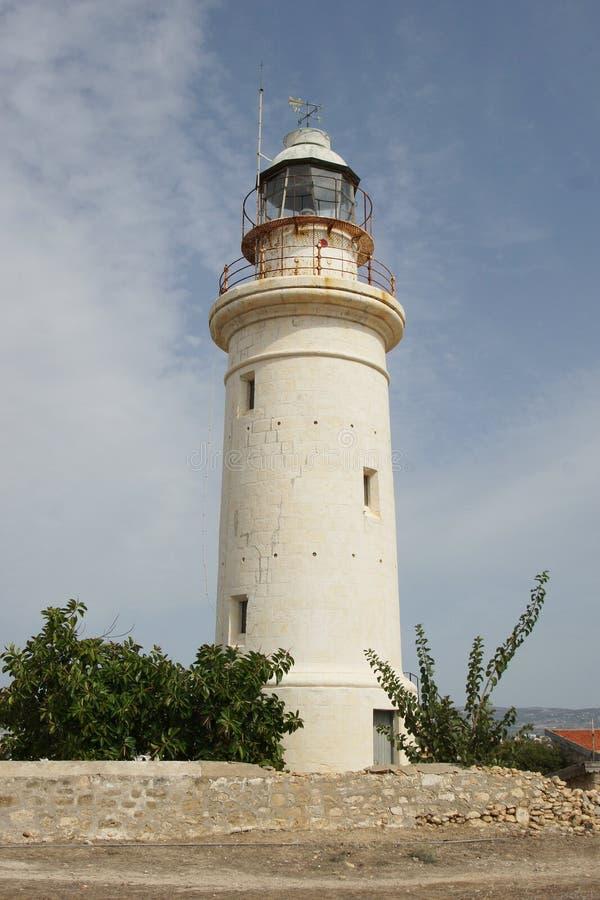 Latarnia morska, Paphos, Cypr, Europa zdjęcie royalty free