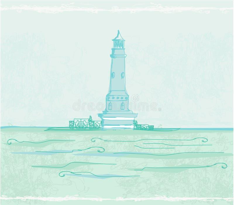 latarnia morska plakat ilustracji