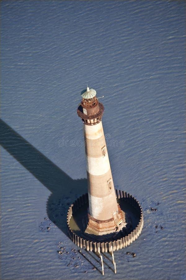 latarnia morska powietrzny widok zdjęcie royalty free
