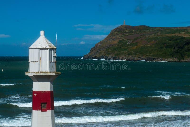 Latarnia morska przegapia Portowej Erin zatoki zdjęcie stock