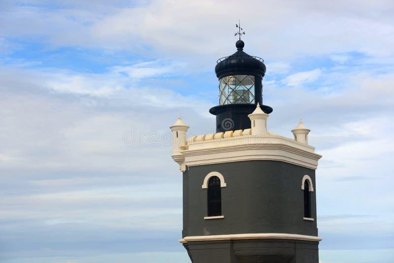 Latarnia morska przy Castillo San Felipe Del Morro, San Juan zdjęcie stock