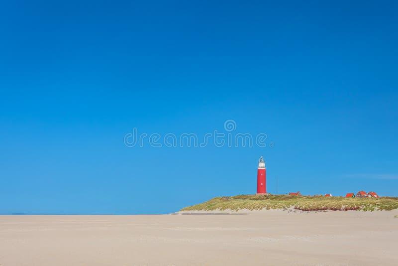 Latarnia morska przy Holenderską wyspą Texel zdjęcia stock