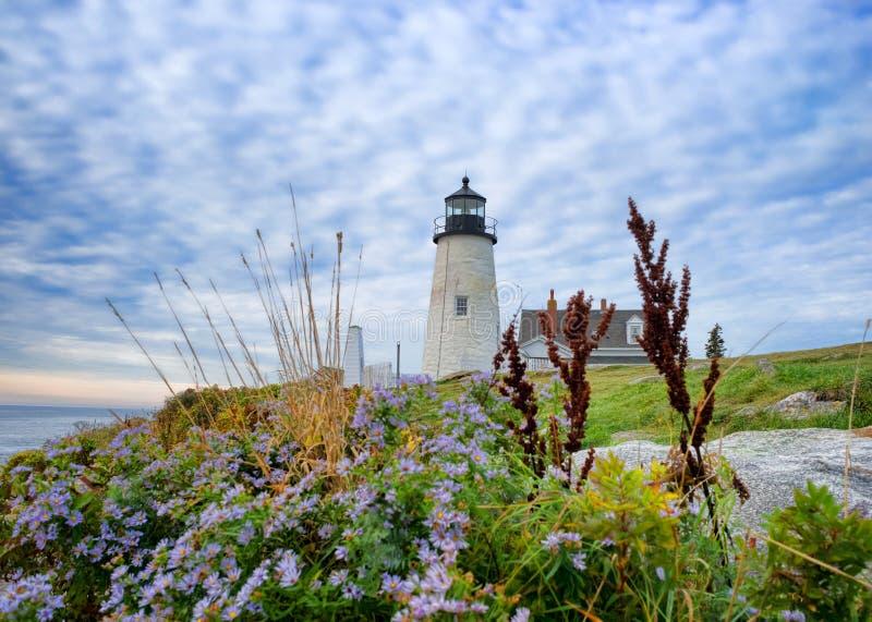 Latarnia morska przy Pemaquid punktem Maine zdjęcie royalty free