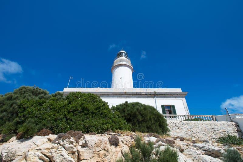 Latarnia morska przy przylądkiem Formentor zdjęcie royalty free