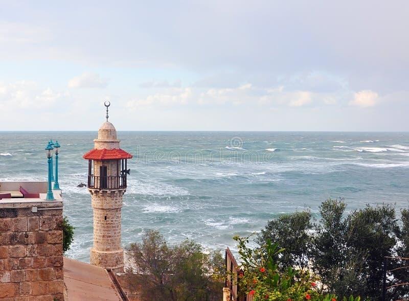 Latarnia morska przy Yaffa zdjęcia royalty free