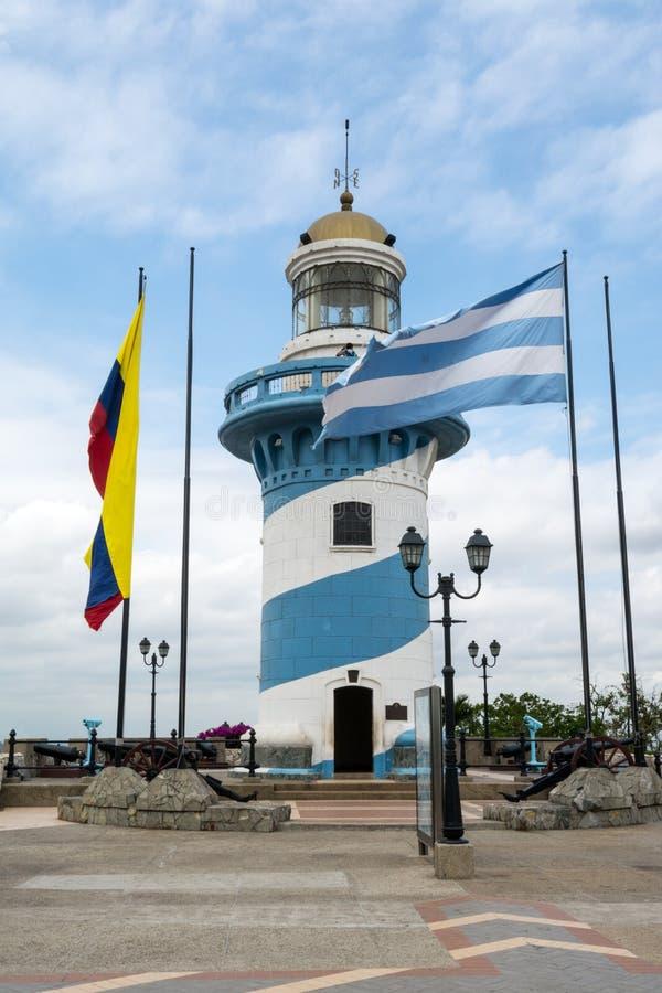 Latarnia morska Santa Ana wzgórze, Guayaquil, Ekwador obrazy stock