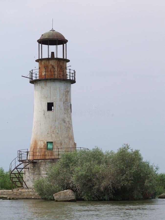 latarnia morska stary Romania obraz royalty free