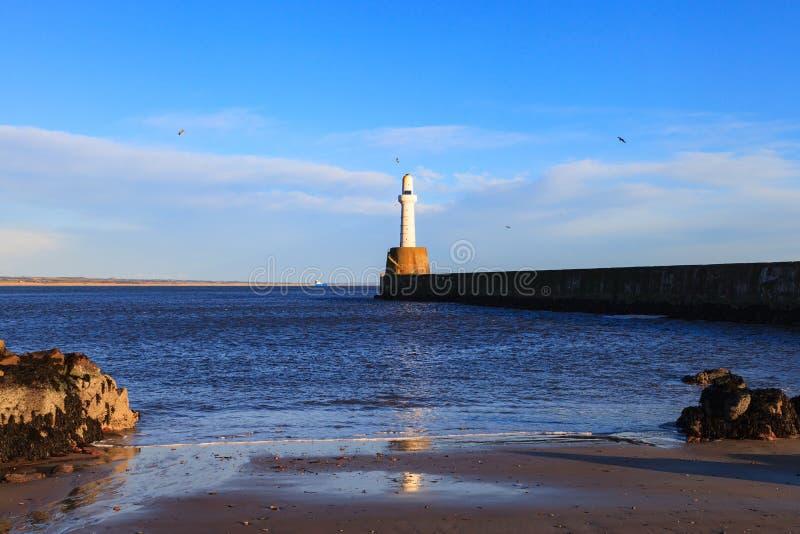 Latarnia morska w Aberdeen, Szkocja zdjęcie stock