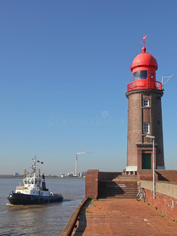 Latarnia morska w Bremerhaven, Niemcy obraz stock
