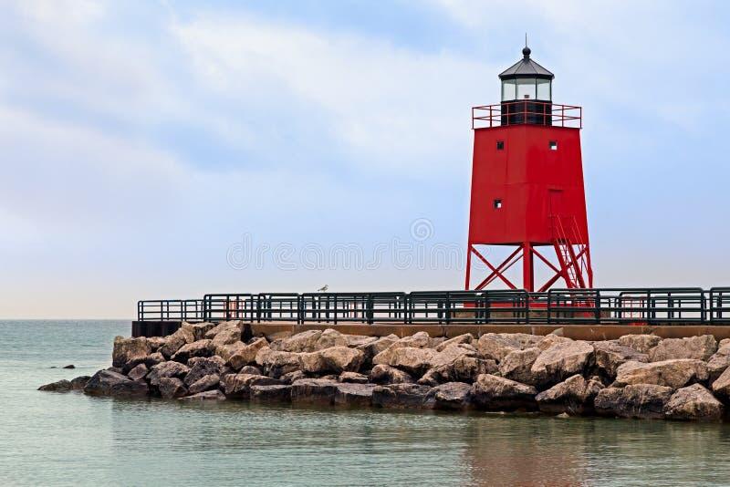 Latarnia morska w Charlevoix, Michigan zdjęcia stock