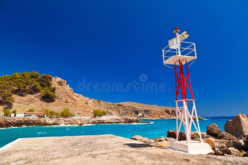 Latarnia morska w Crete obraz royalty free
