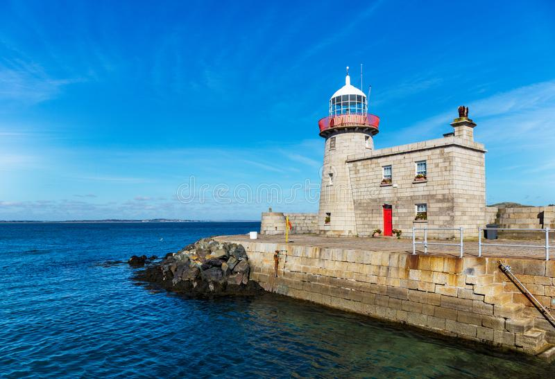 Latarnia morska w Howth blisko Dublin, Irlandia zdjęcia royalty free