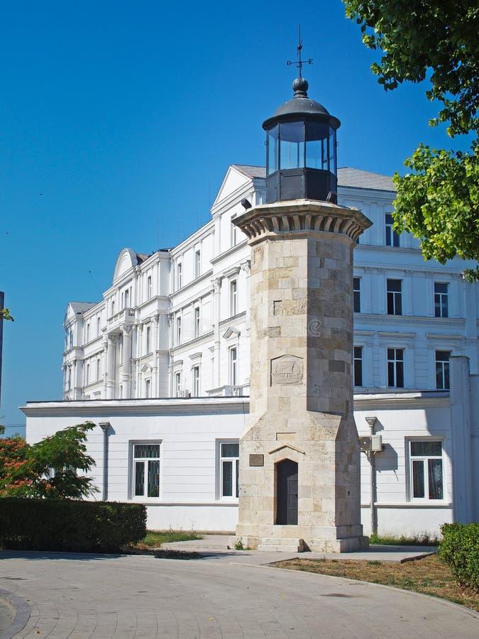 Latarnia morska w Konstancie Rumunia - Farul Genove fotografia royalty free