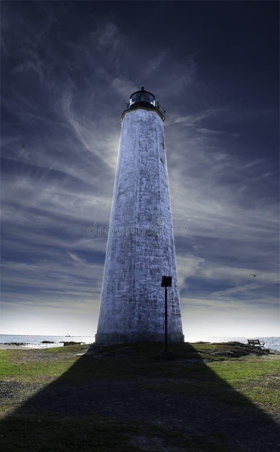 Latarnia morska w Nowej przystani, Connecticut obrazy royalty free