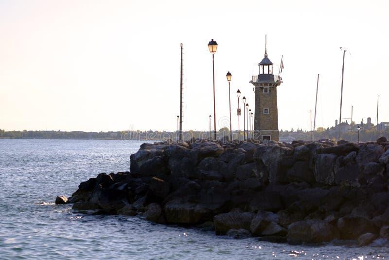 Latarnia morska w ranku świetle fotografia stock