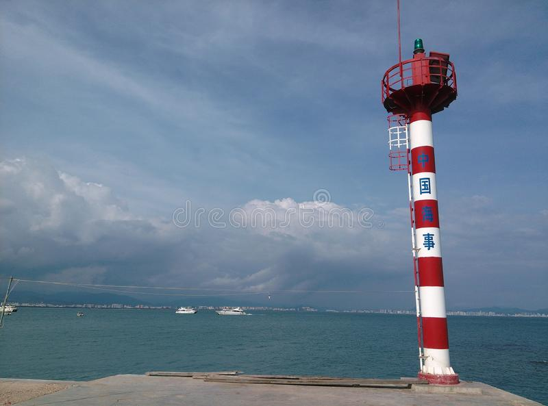 Latarnia morska w Sanya, Hainan w Chiny obrazy royalty free