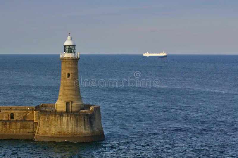 Latarnia morska w Tyne obraz royalty free