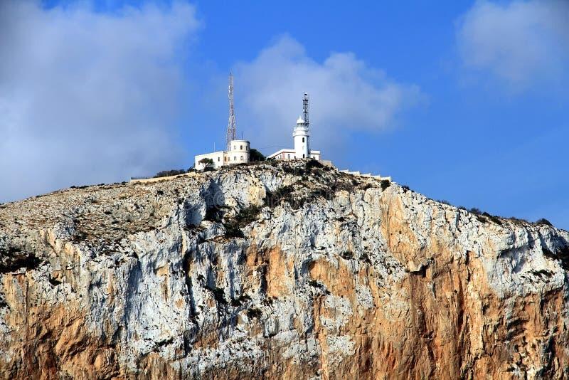 Latarnia morska w wierzchołku Cabo de San Antonio w Hiszpania zdjęcie royalty free