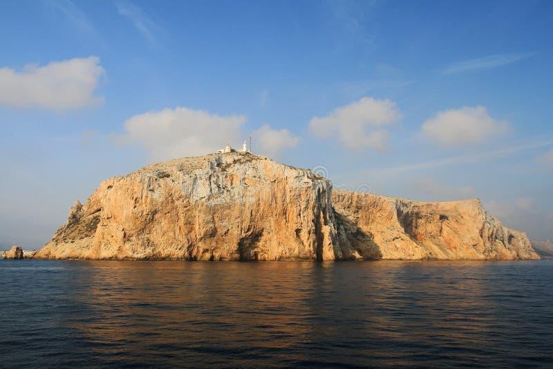 Latarnia morska w wierzchołku Cabo de San Antonio w Hiszpania zdjęcia stock