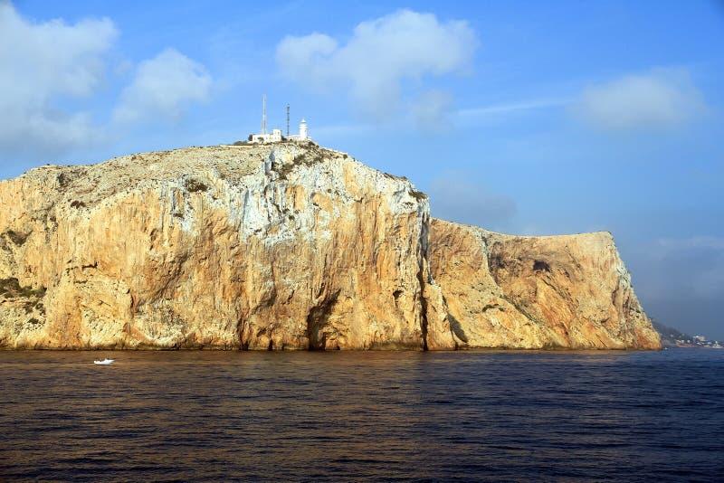Latarnia morska w wierzchołku Cabo de San Antonio w Hiszpania zdjęcie stock