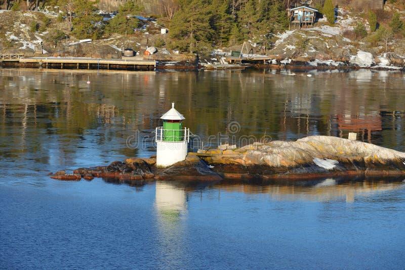 Latarnia morska wczesna wiosna zdjęcie royalty free