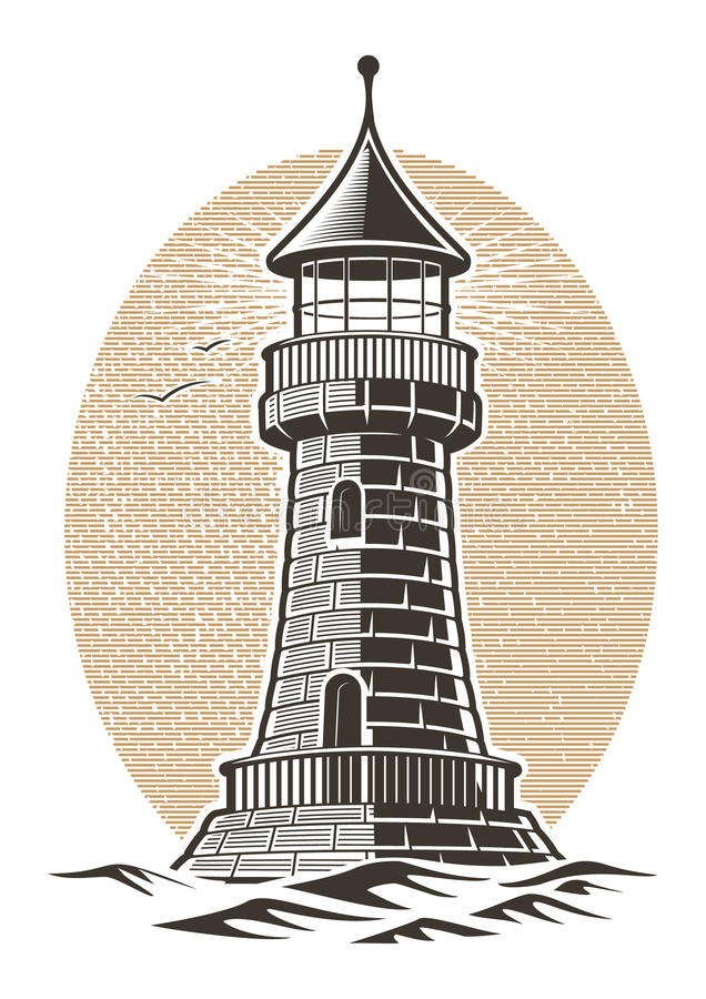 Latarnia morska wektoru ilustracja