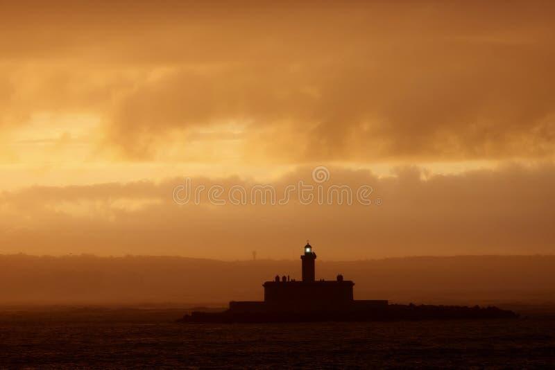 Latarnia Morska Wschód Słońca Obrazy Royalty Free