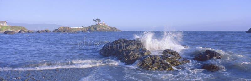 Latarnia morska z Frontowej ulicy, Półksiężyc miasto, Kalifornia obraz royalty free