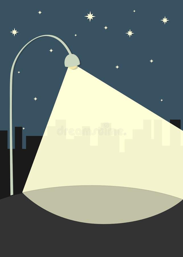 Latarnia uliczna iluminuje chodniczek royalty ilustracja