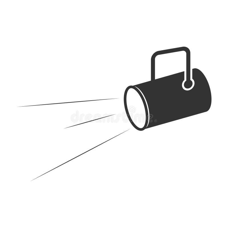 Latarnia wodna Lampa Konstrukcja wektora koncepcji biznesowych latarki ilustracja wektor