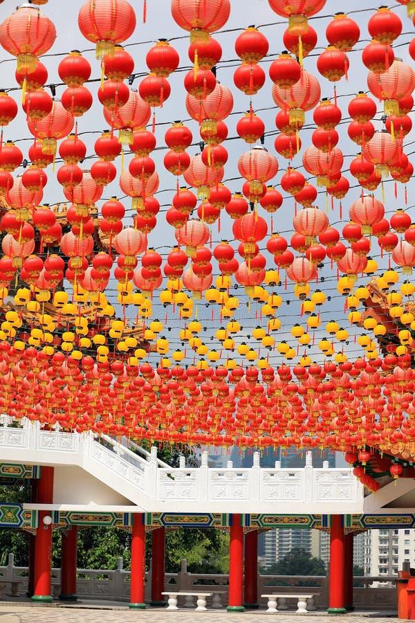 latarnie chińskich temple obraz royalty free