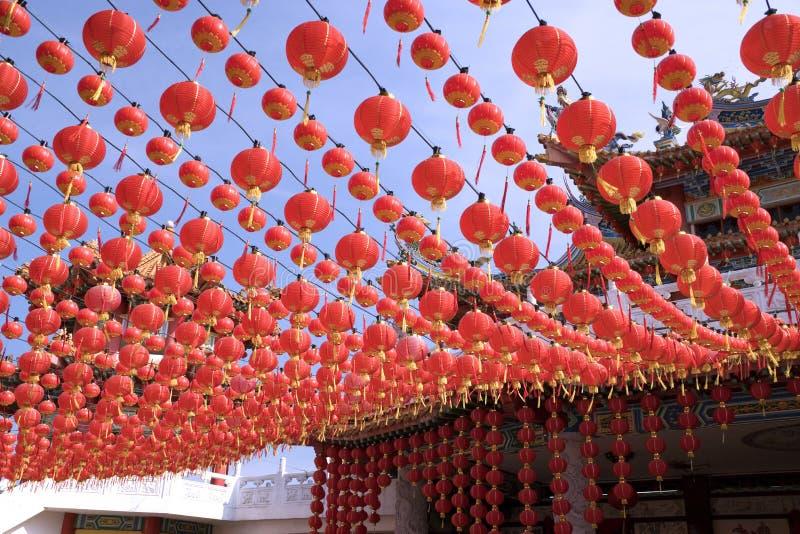 latarnie chińskich temple zdjęcie stock