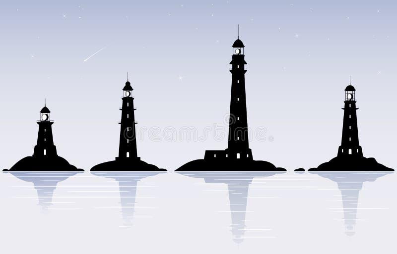 latarnie morskie ilustracji